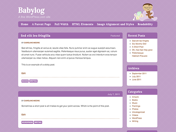 Babylog screenshot