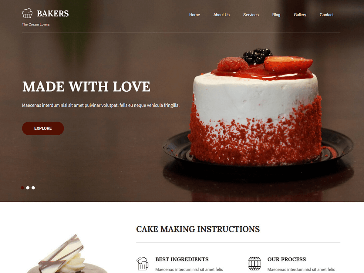 🔥 Bakers Lite on Scan WP, the WordPress Theme Detector