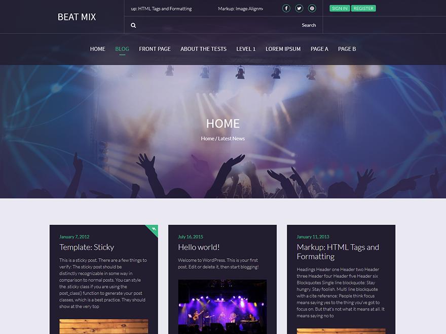 10 Best Free Music Band WordPress Themes 2019 3