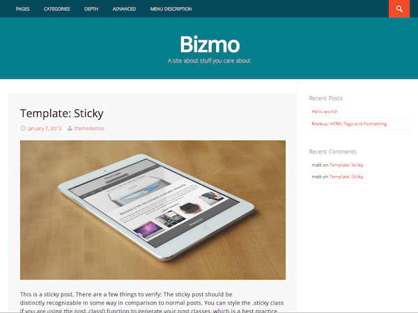 Bizmo screenshot