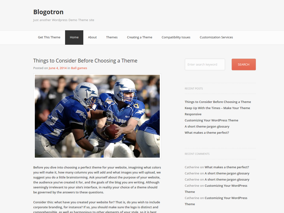 Blogotron screenshot