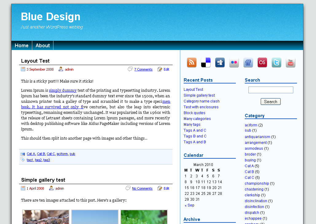 Blue Design screenshot