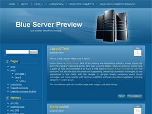 Blue Server screenshot