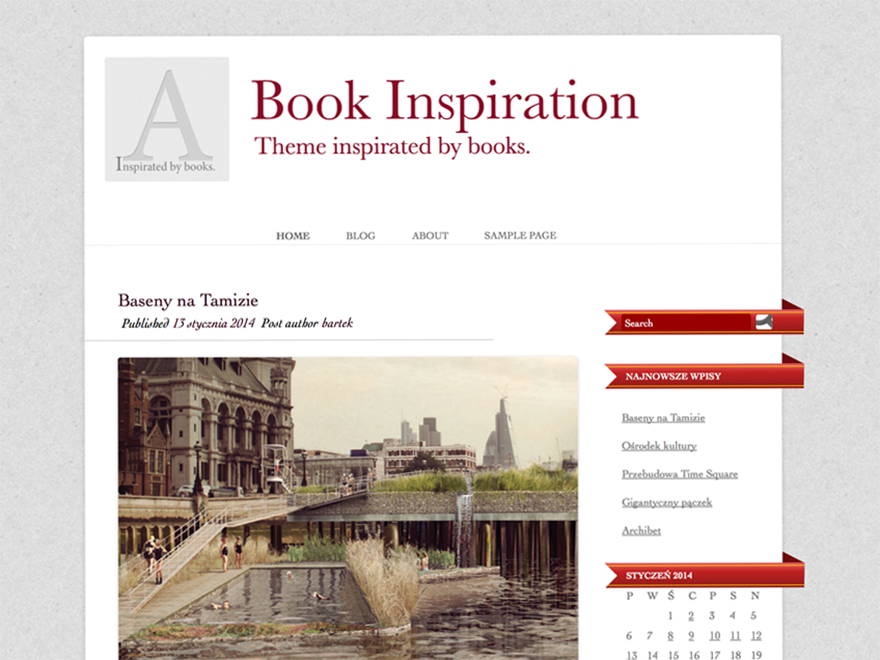Book inspiration screenshot