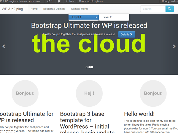 Bootstrap Ultimate screenshot