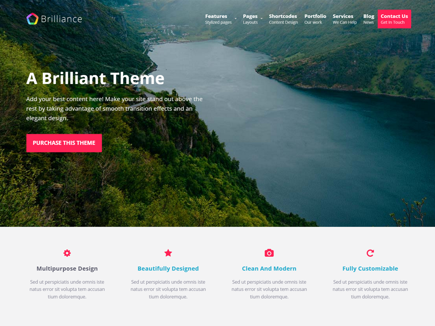 10 Free Landing Page WordPress Themes For Apps, Products and Services 2019 6