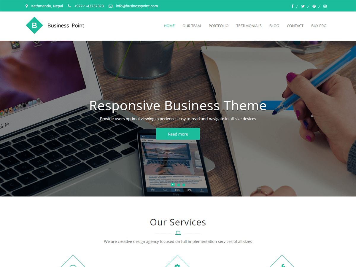 Top 30+ Best Free WordPress Business Themes in [sigma_current_year] 17