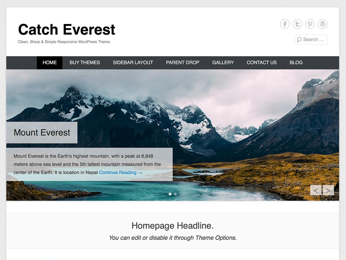 Template WordPress Catch Everest