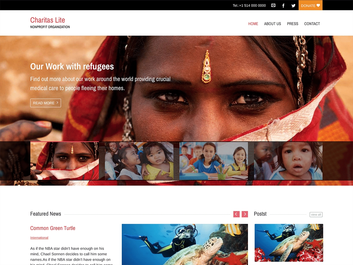 Top 15 Best Free Charity WordPress Themes 2019 11