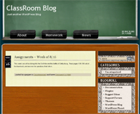 ClassRoom Blog screenshot