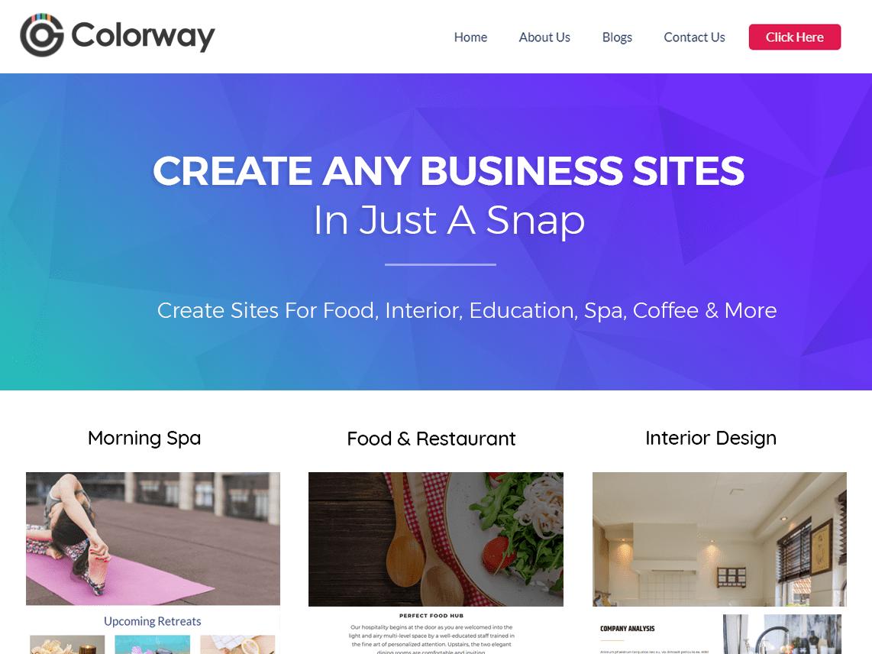 Template WordPress Colorway