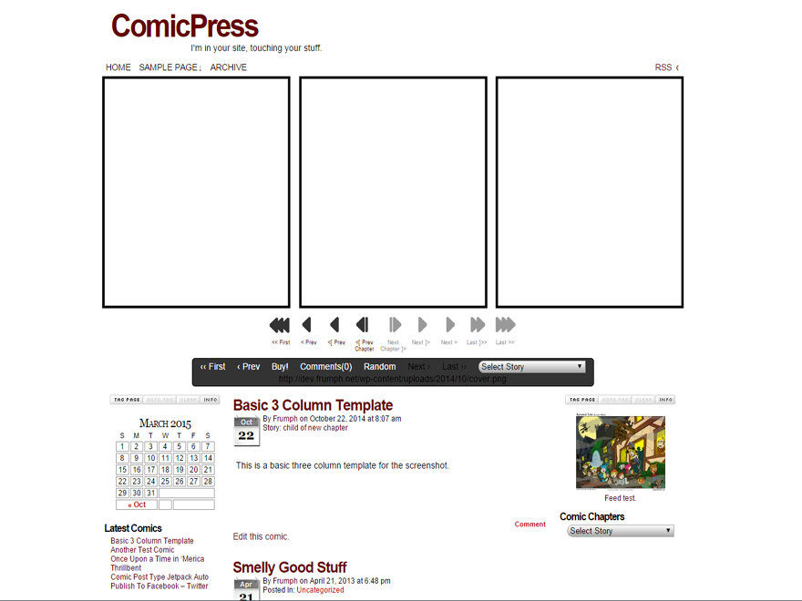 ComicPress screenshot