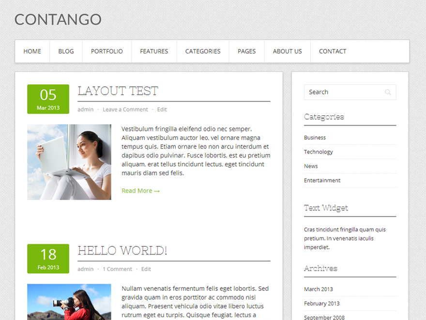 Template WordPress Contango