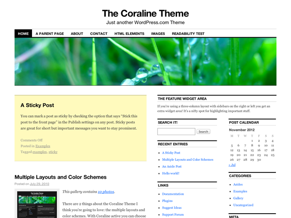 Template WordPress Coraline