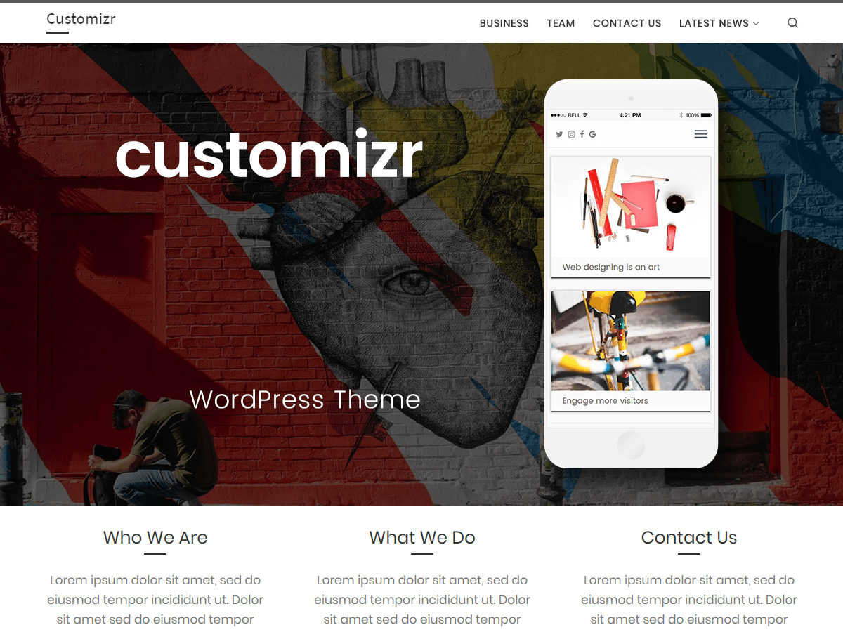 Top 35+ Free Bootstrap WordPress Themes 2019 31