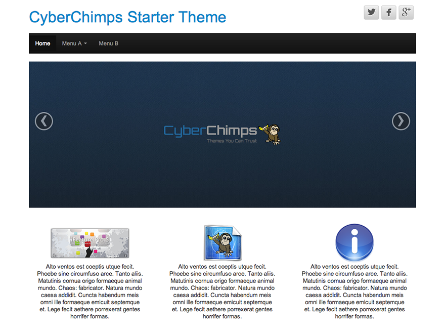 Template wordpress CyberChimps