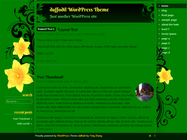 daffodil screenshot