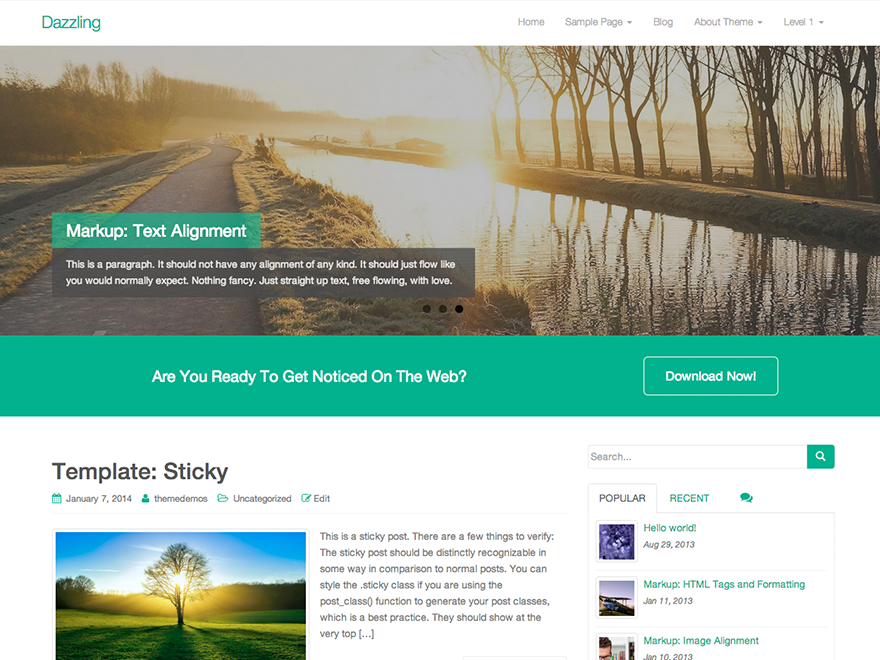 10 Best Free Fullscreen WordPress Themes 2019 9