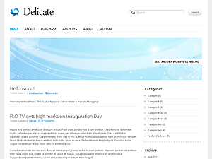 Template wordpress Delicate