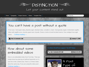 Distinction screenshot