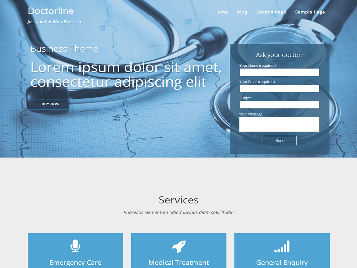25+ Free Medical WordPress Themes 2019 8