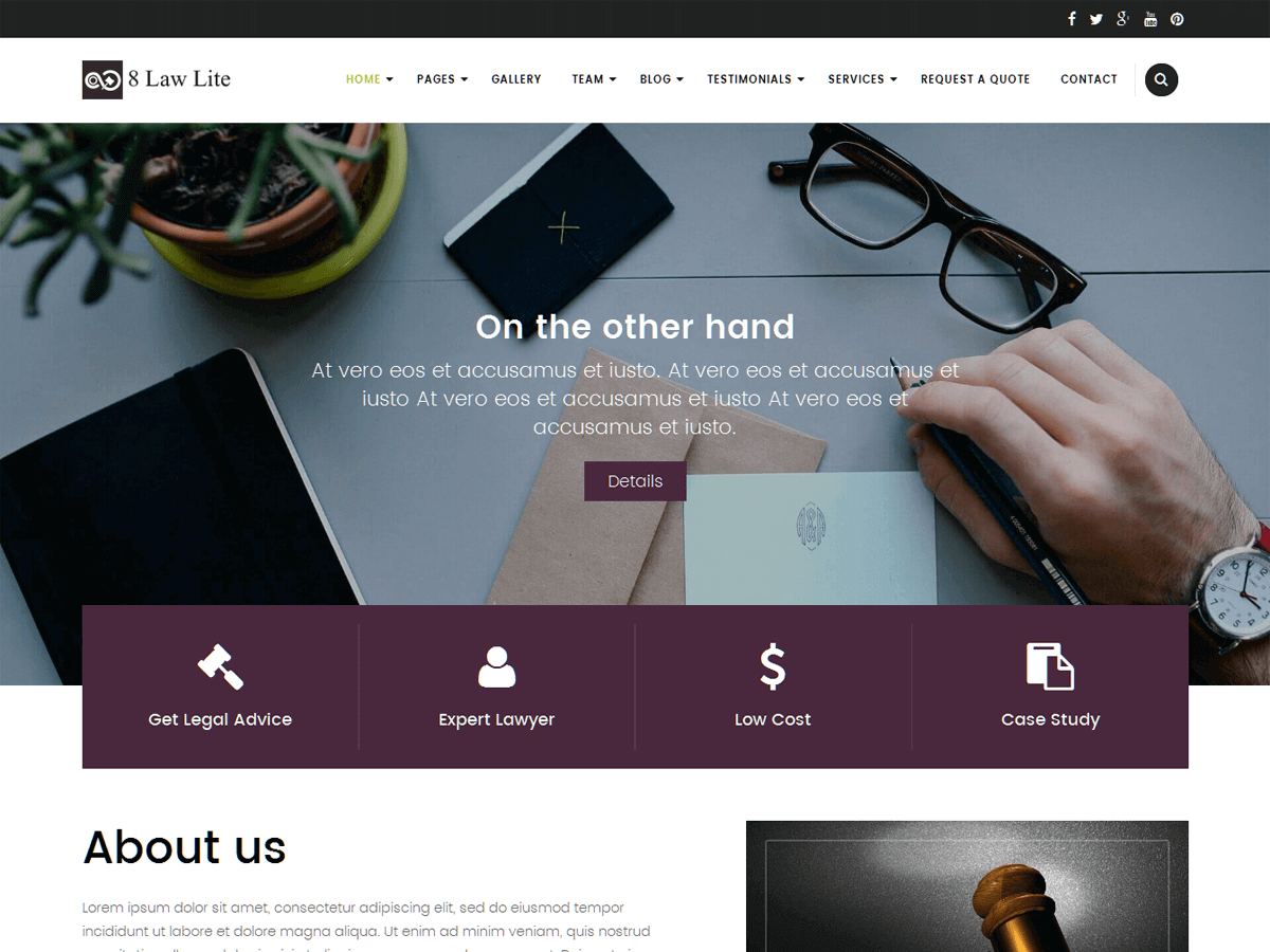20+ Free Lawyers WordPress Themes 2019 2