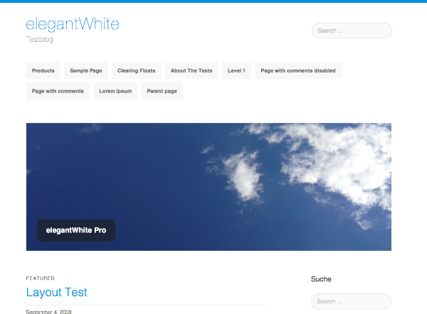 Template wordpress elegantWhite
