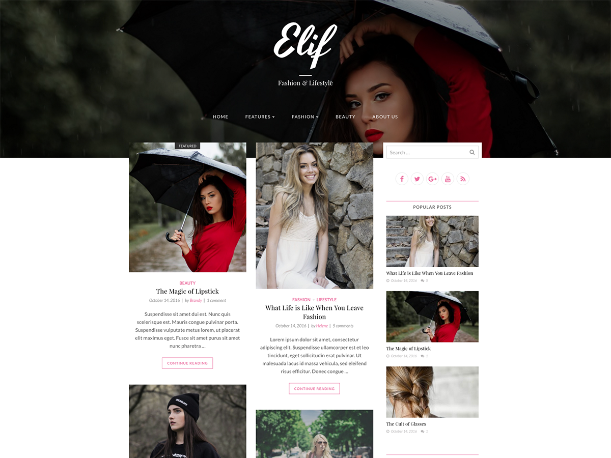 30+ Best Free Fashion WordPress Themes for Blogs [sigma_current_year] 14