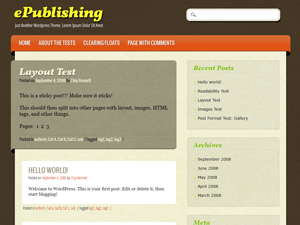 ePublishing screenshot