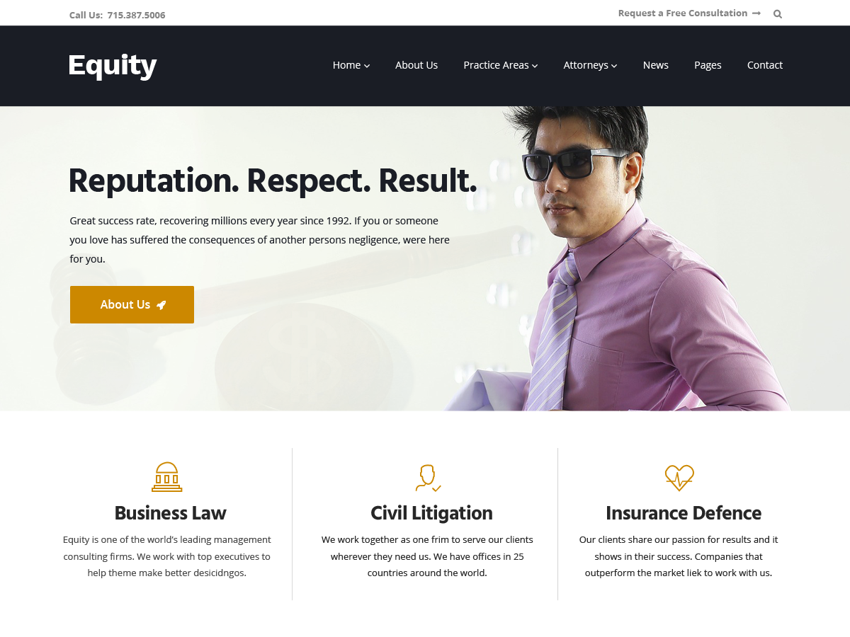 20+ Free Lawyers WordPress Themes 2019 7