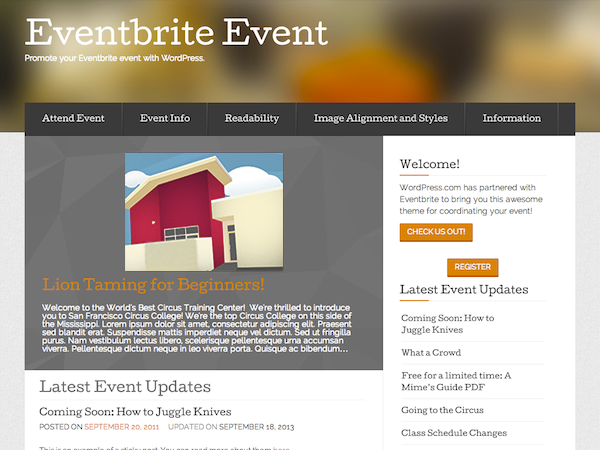 Eventbrite Event screenshot