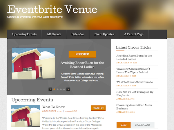 Eventbrite Venue screenshot