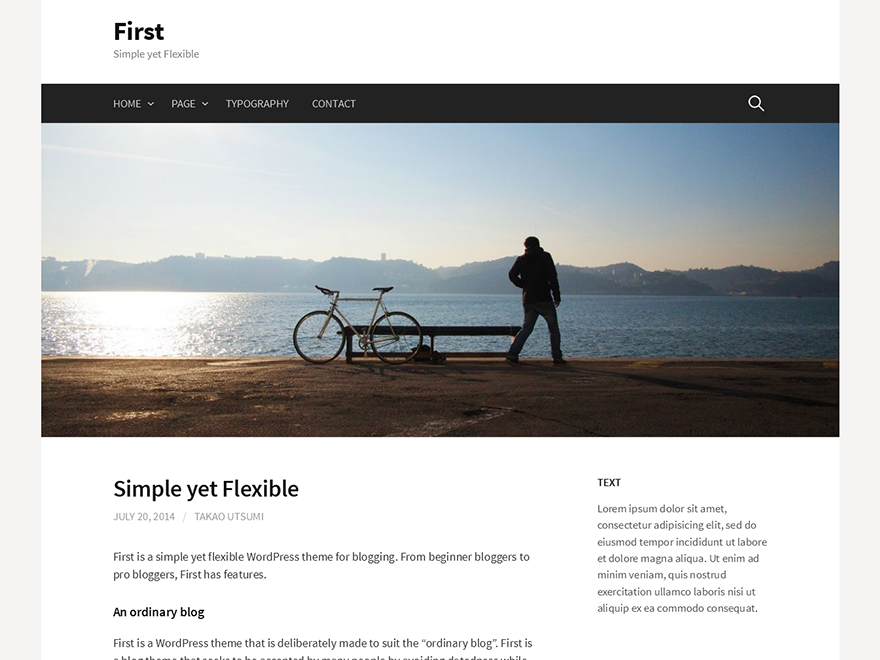 screenshot of theme First