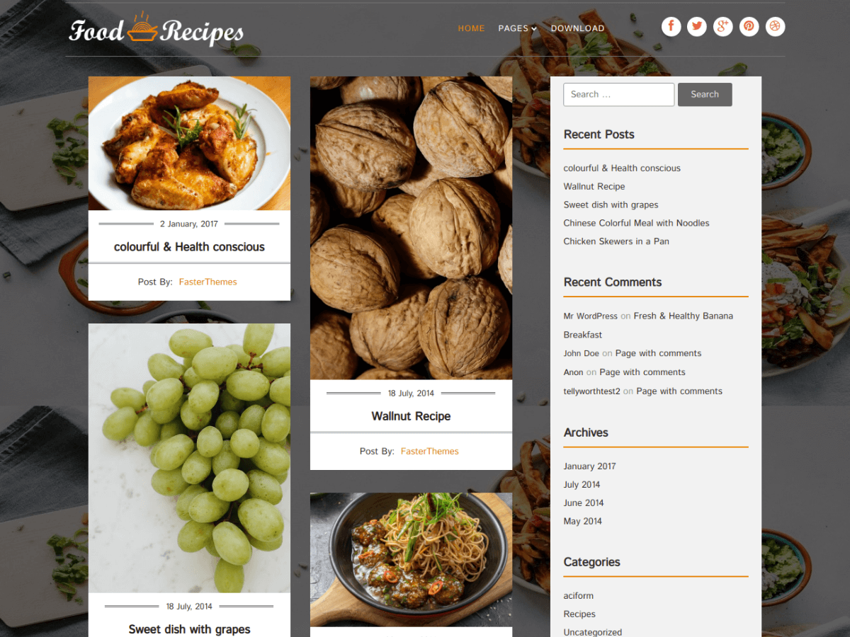 Food Recipes screenshot
