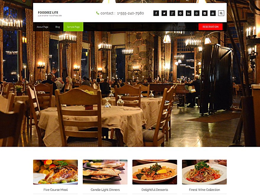 20+ Free Restaurant WordPress Themes 2019 17