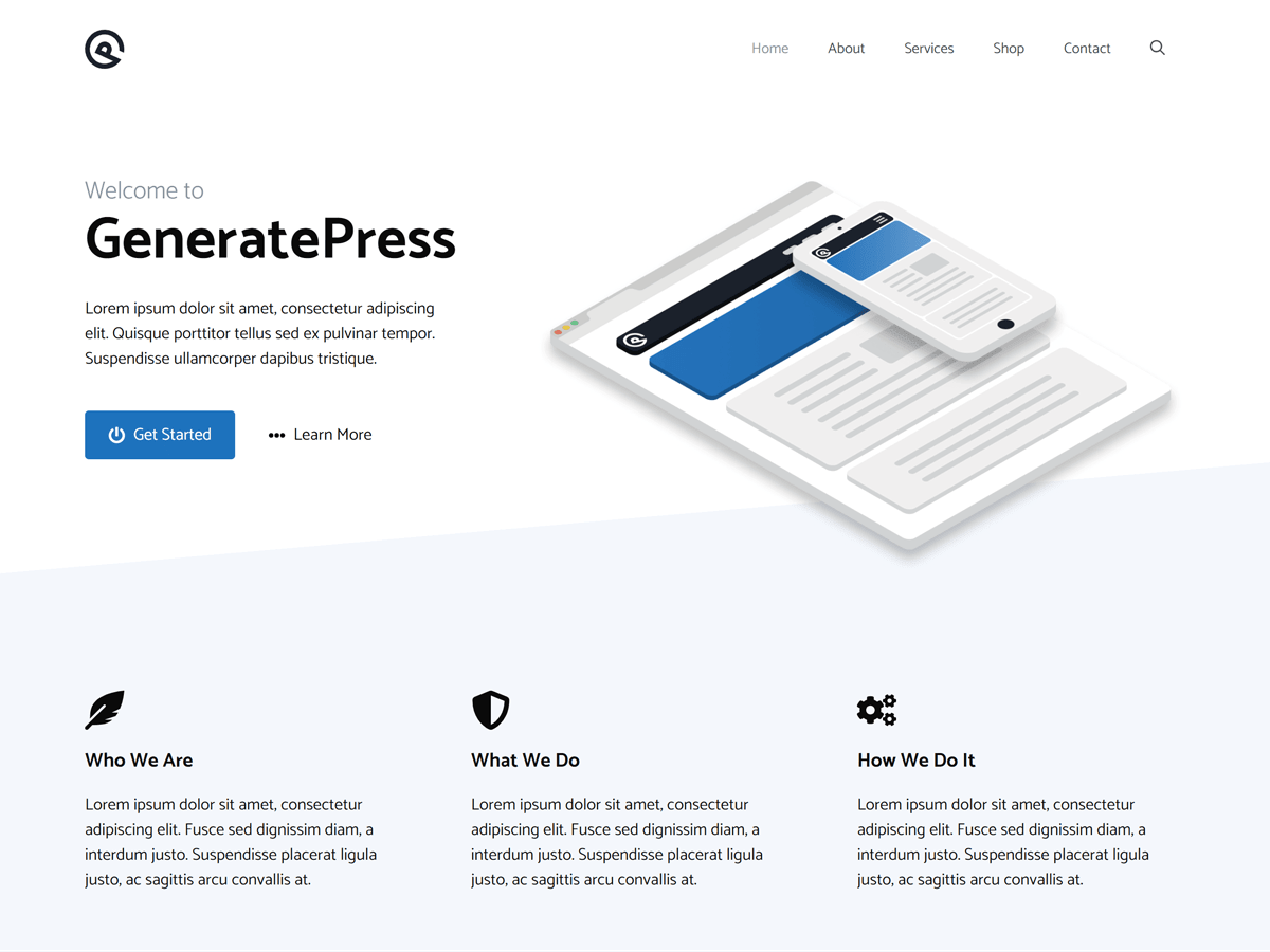 GeneratePress screenshot