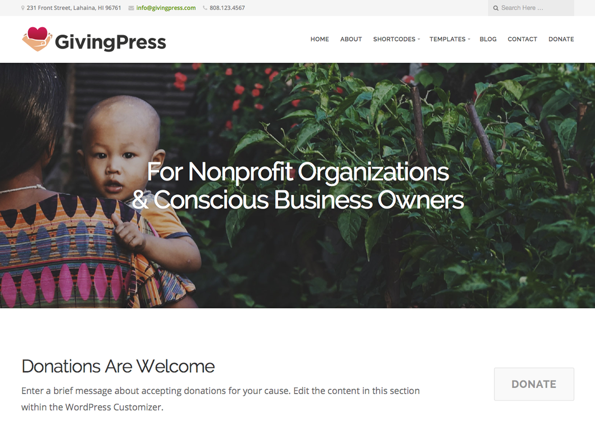 Top 15 Best Free Charity WordPress Themes 2019 6