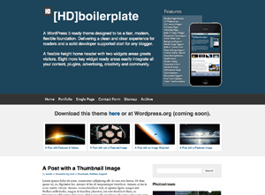 HDboilerplate screenshot