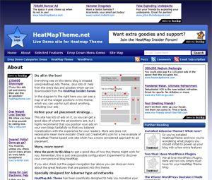 HeatMap Adsense Theme screenshot
