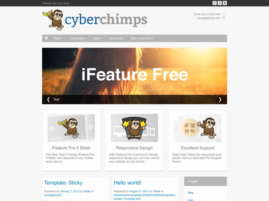Template wordpress iFeature