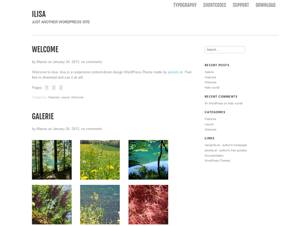 Template wordpress ilisa