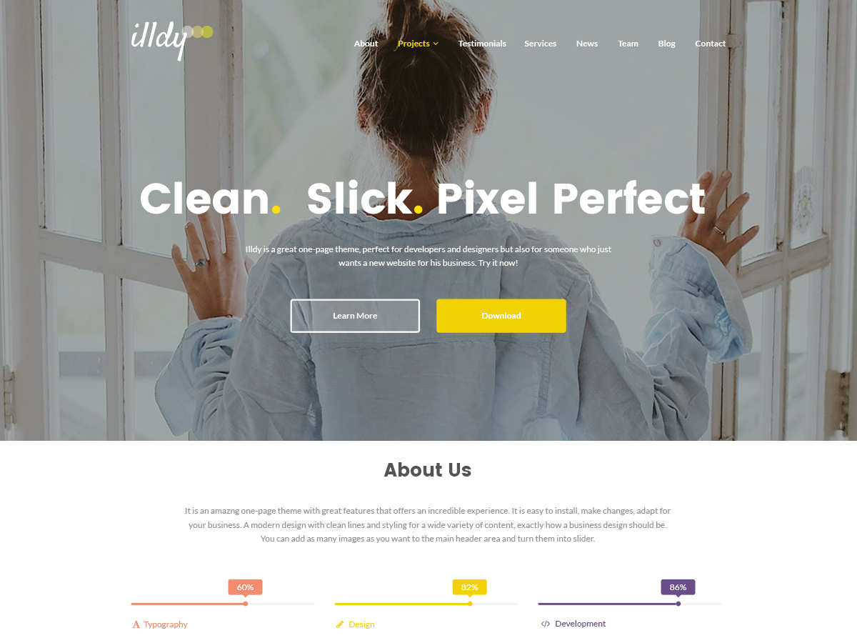 10 Free Landing Page WordPress Themes For Apps, Products and Services 2019 1