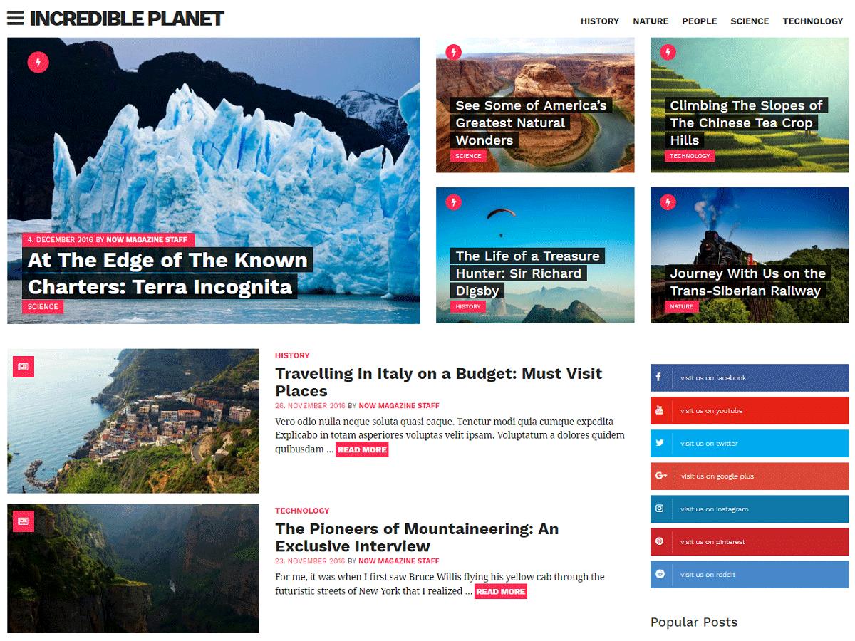 10 Best Free Magazine WordPress Themes 2019 12