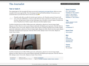 Journalist screenshot