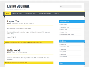 Living Journal screenshot