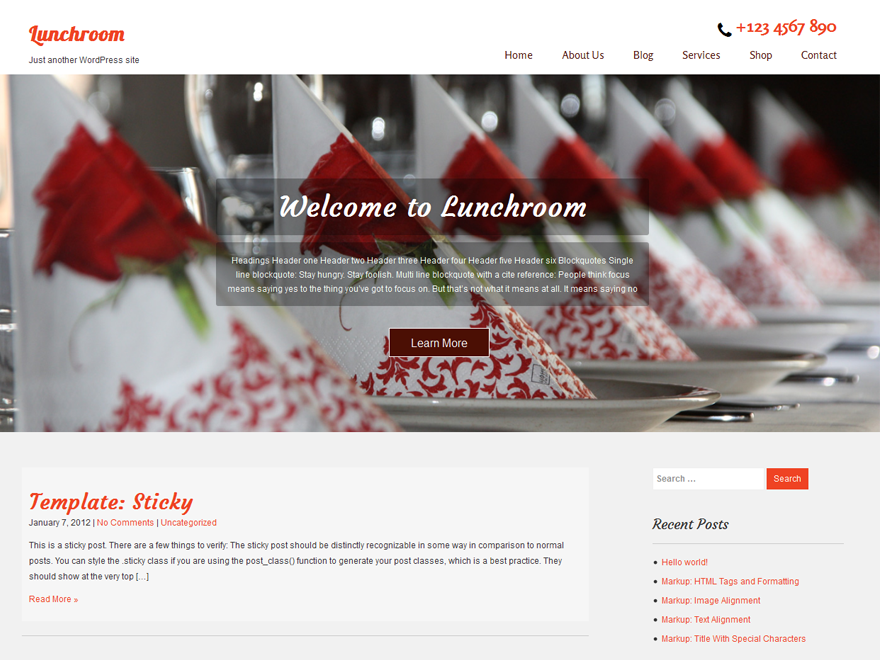 20+ Free Restaurant WordPress Themes 2019 15