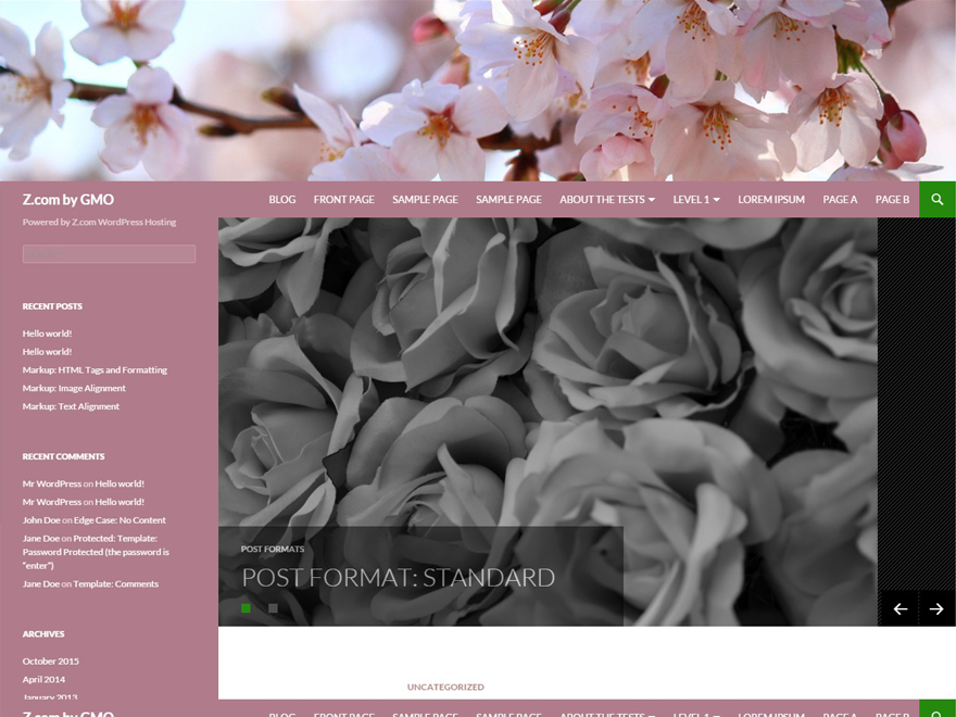 screenshot of theme Madeini