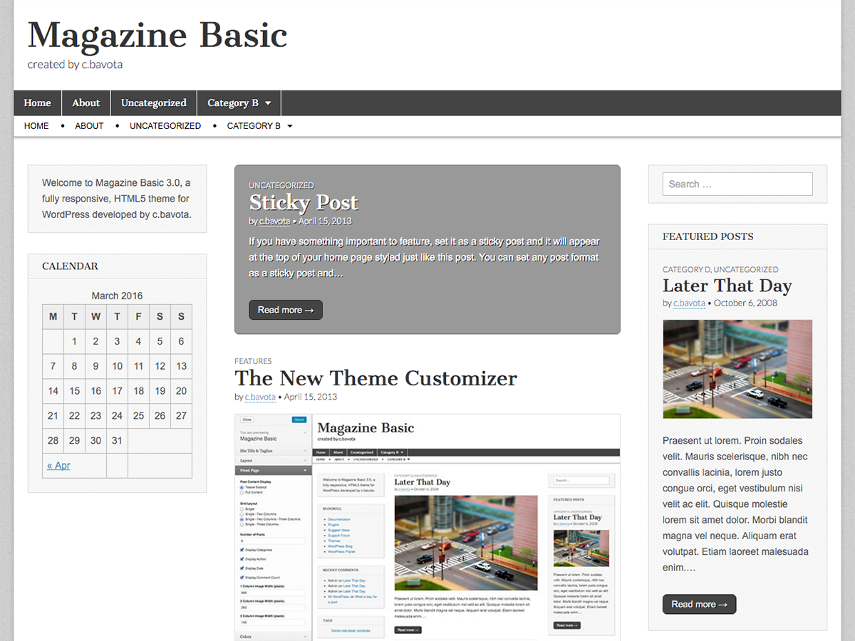 Magazine Basic screenshot