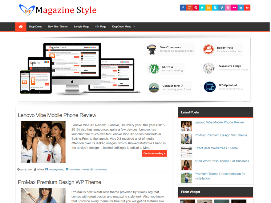 Magazine Style screenshot
