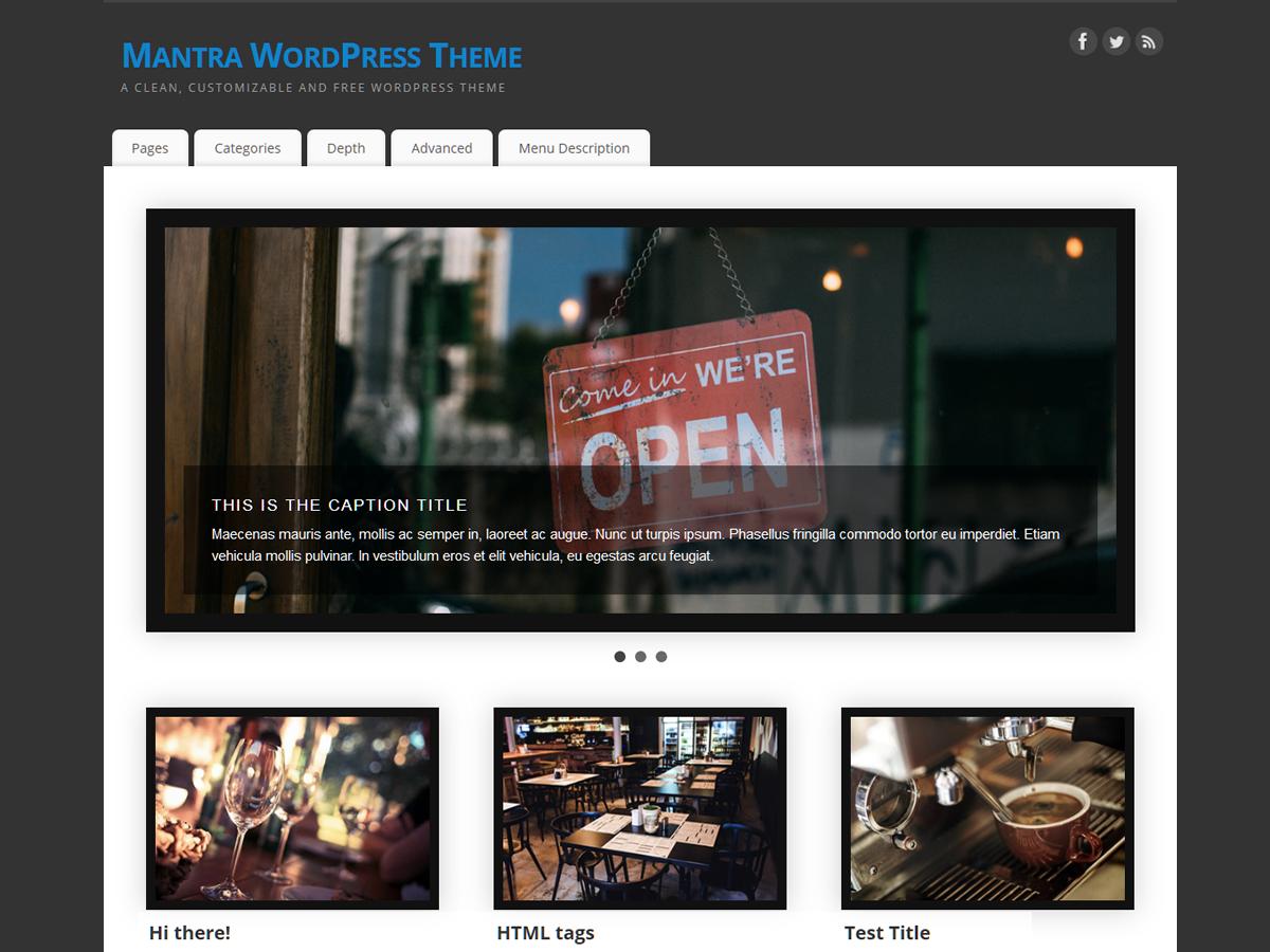 Template wordpress Mantra
